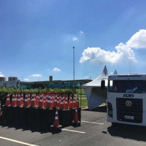 Aluguel de cones de sinalização