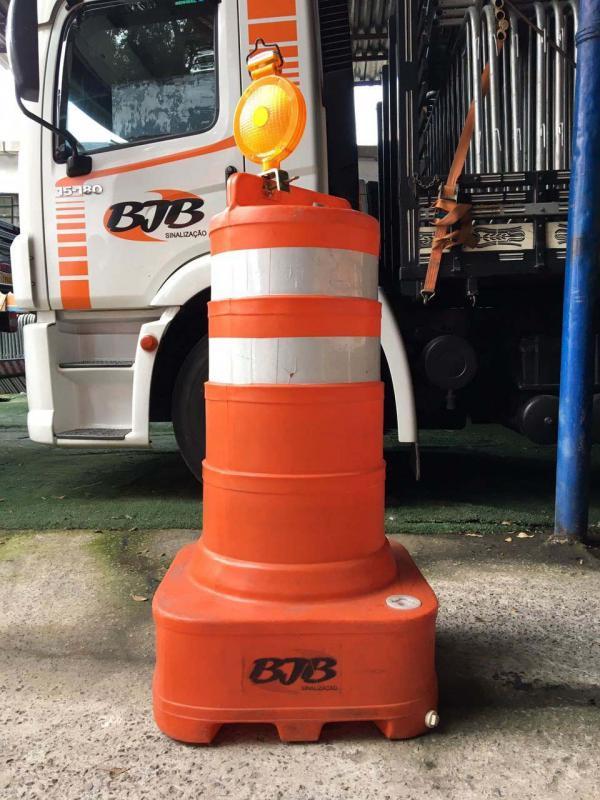 Cone barril sinalização
