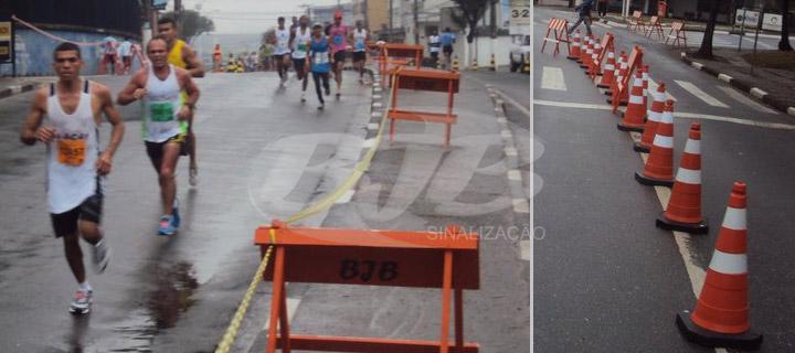 Cavaletes e Cones na 9º Meia Maratona de São Bernardo